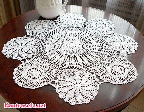 khăn trải bàn trà tròn đẹp
