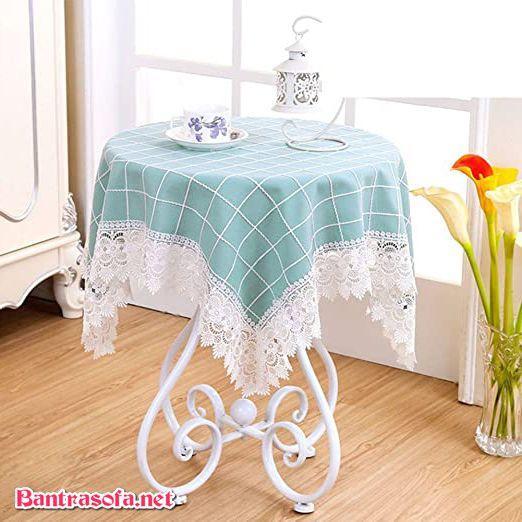 khăn trải bàn trà tròn đẹp mắt