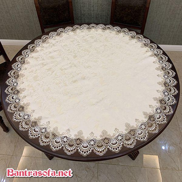 Khăn trải bàn trà tròn