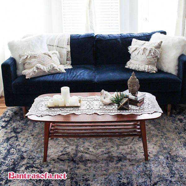khăn trải bàn trà sofa màu trắng