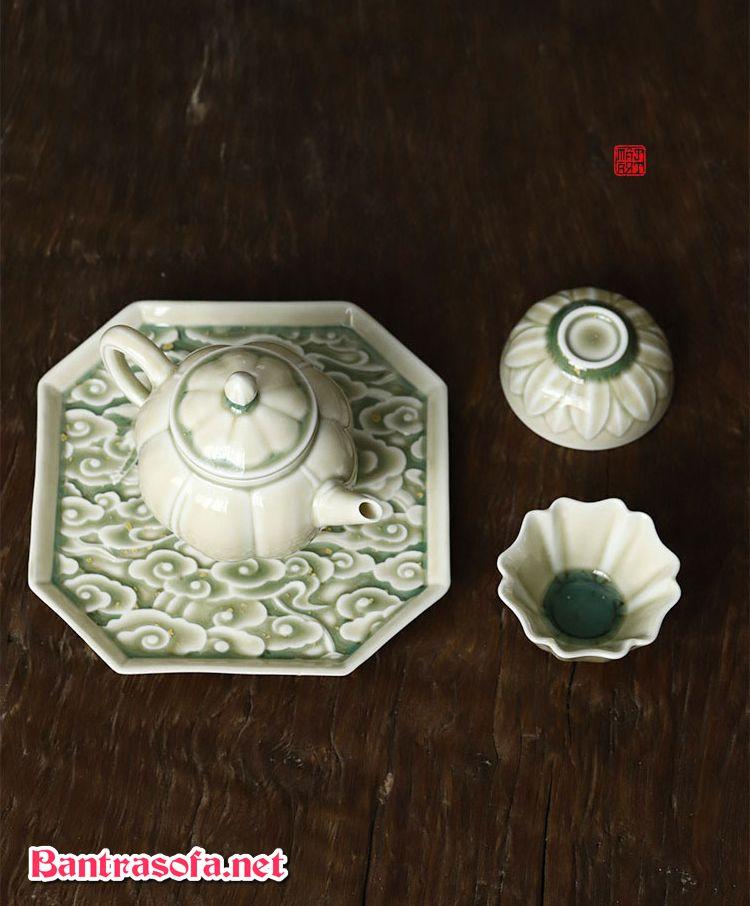 khay đựng trà bằng gốm sứ