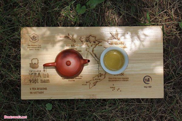 khay đựng trà đẹp bằng gỗ