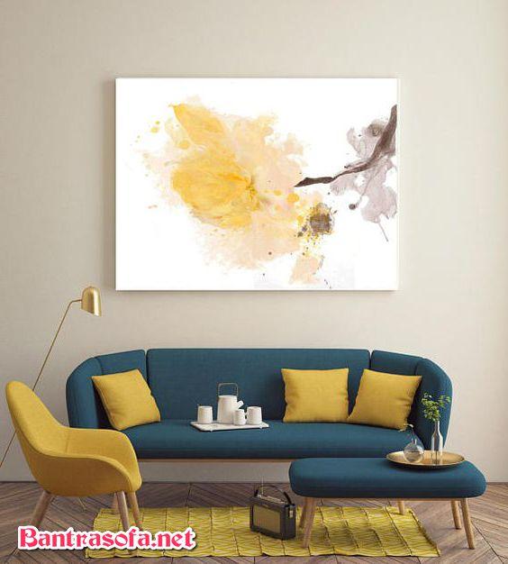 Cách chọn sofa cho phòng khách nhỏ là chọn kiểu sofa đơn giản, gọn nhẹ ít chi tiết.