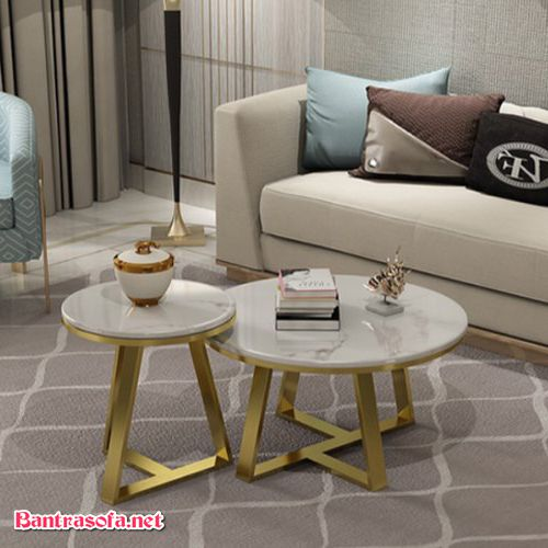 ghế sofa chân sắt mặt đá marble