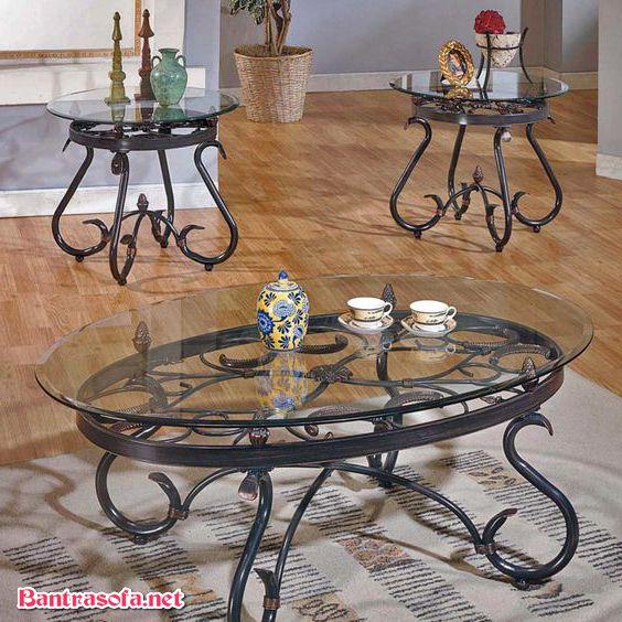 bàn trà sắt cổ điển