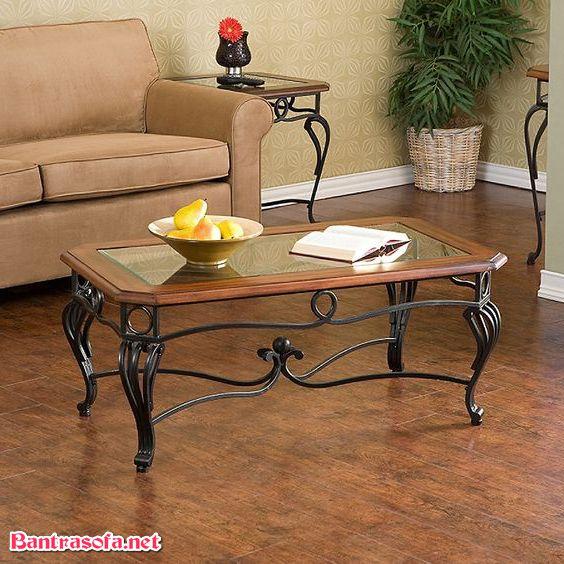 bàn sofa sắt cổ điển