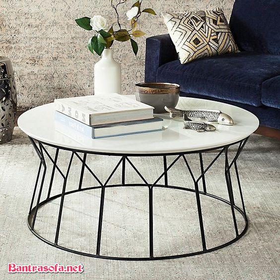 bàn sofa sắt hình tròn