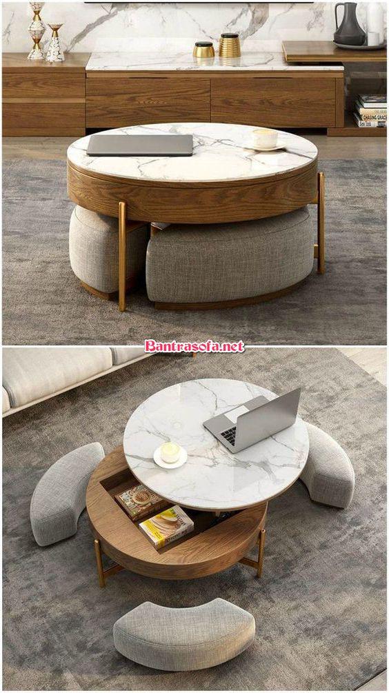 bàn trà độc đáo kiêm ghế ngồi