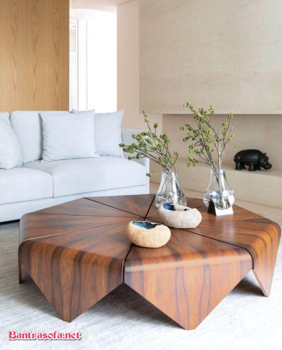 bàn trà độc đáo bằng gỗ