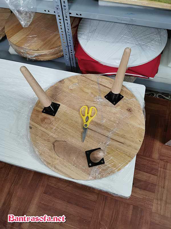 bàn trà tròn nhật gỗ xoan đào