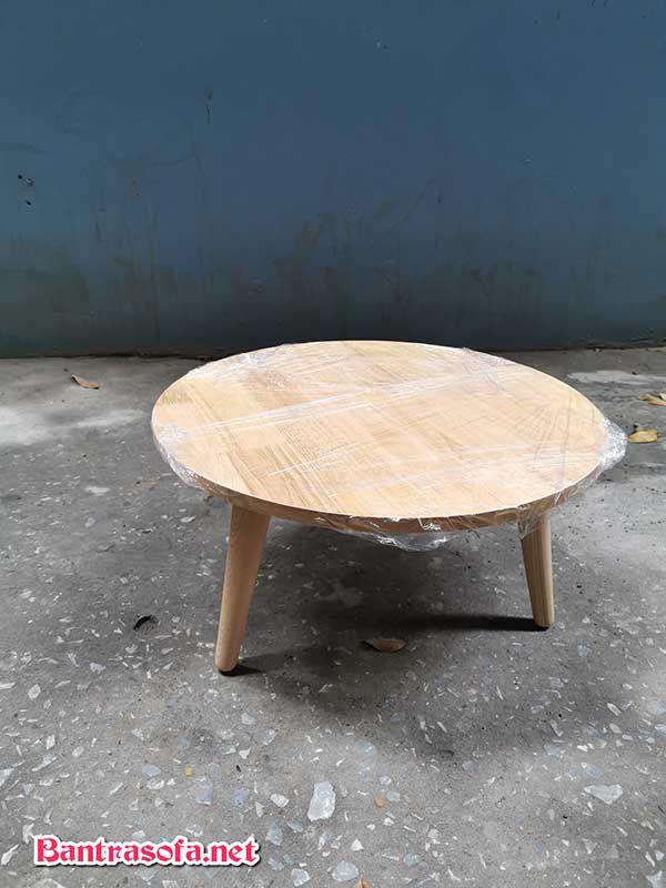 bàn trà nhật gỗ xoan đào tròn