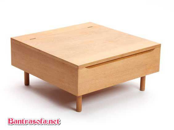 bàn trà nhật gỗ xoan đào có ngăn kéo