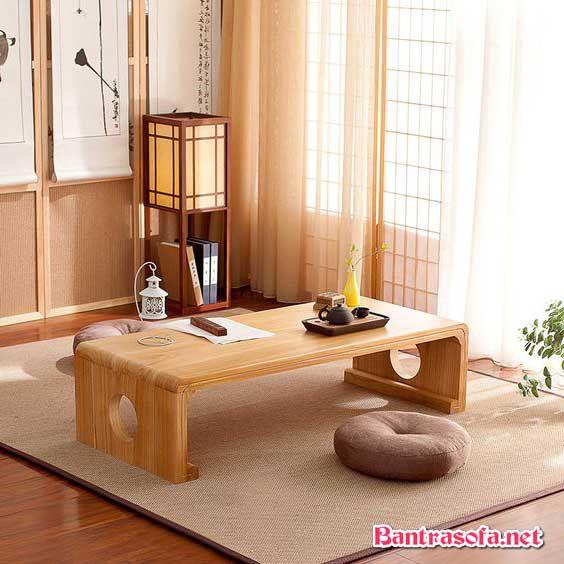 bàn trà nhật gỗ xoan đào