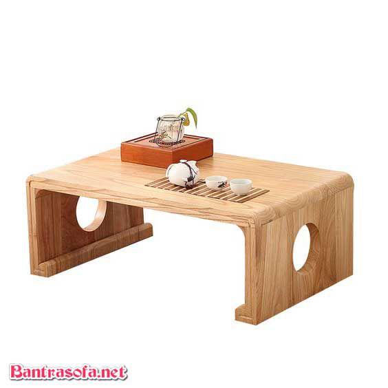 bàn trà nhật gỗ xoan đào đẹp mắt