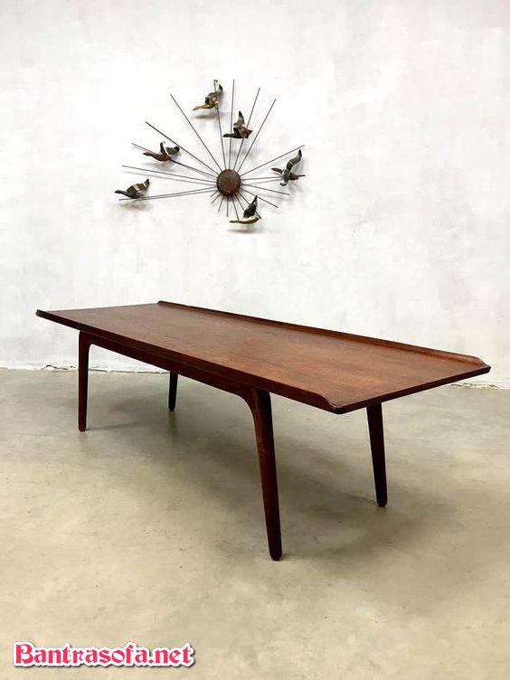 bàn trà dài nhỏ gỗ tự nhiên