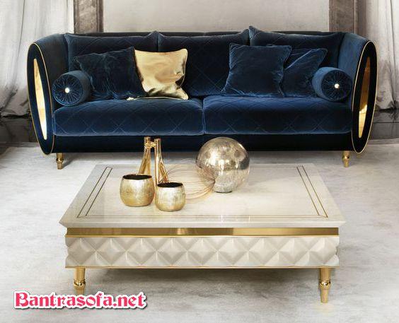 bàn trà phong cách luxury