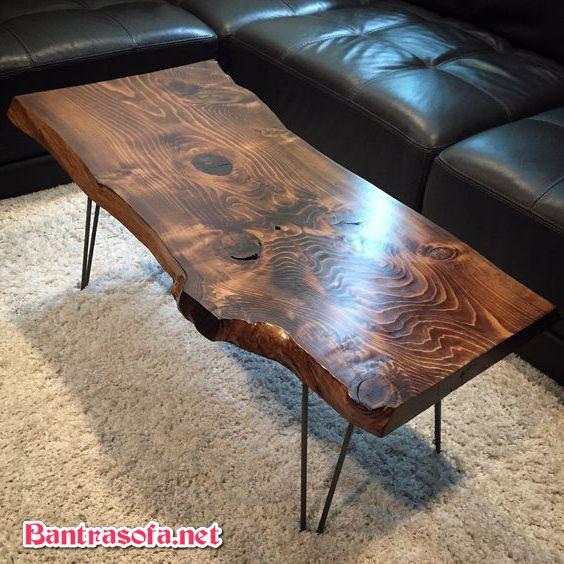 bàn trà dài gỗ me tây