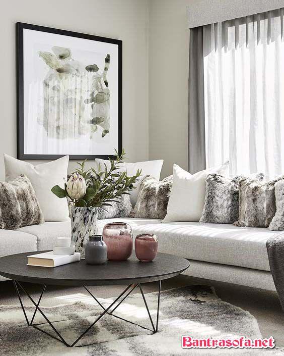 bàn trà sofa chân sắt tròn