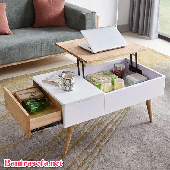 bàn sofa kết hợp bàn ăn đơn giản