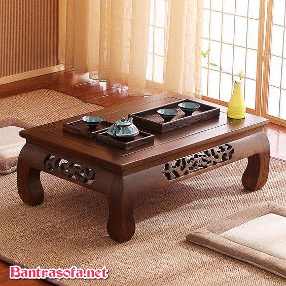 bàn trà phòng khách chung cư bệt