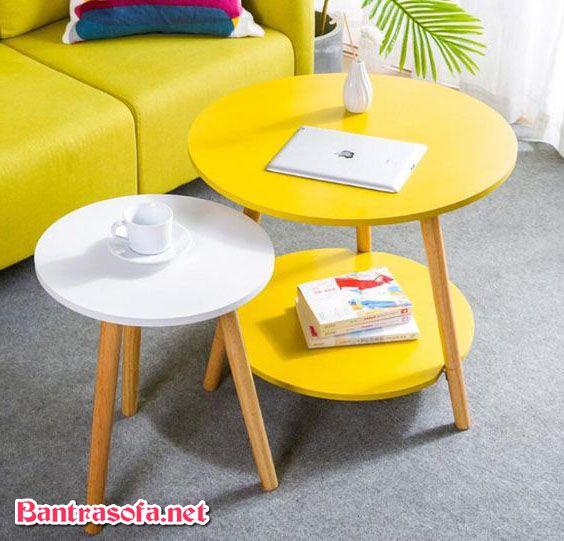 bàn trà phòng khách đẹp nhỏ
