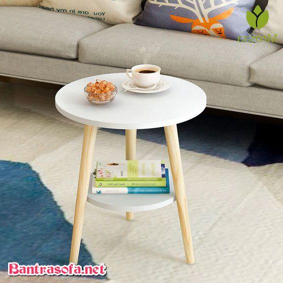 bàn trà chanh tròn đẹp