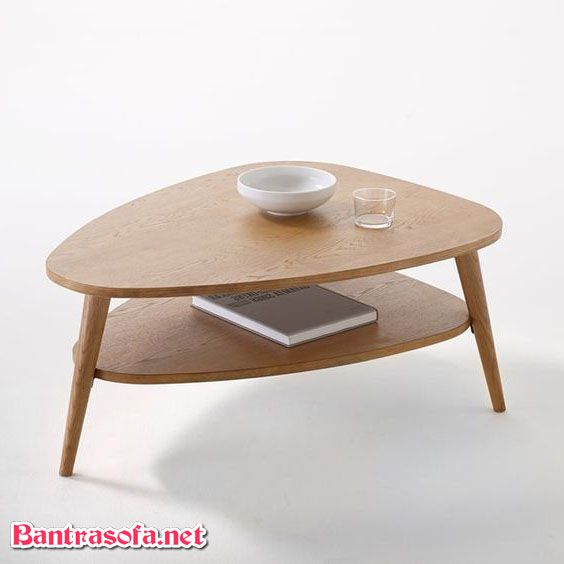 bàn trà chanh tròn 2 tầng