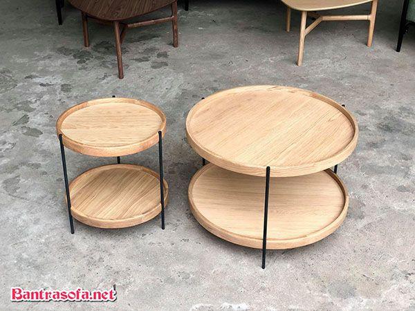 bàn ghế quán trà chanh bằng gỗ