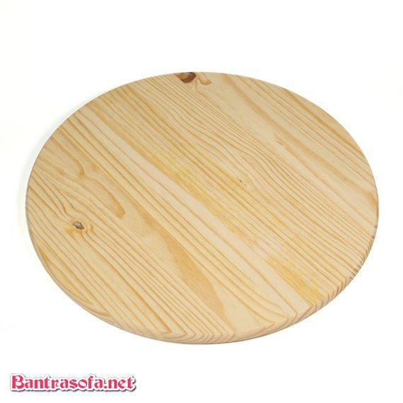 mặt bàn gỗ thông tròn