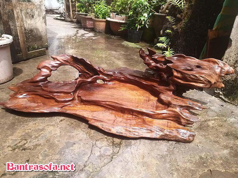 mặt bàn trà gỗ xá xị lũa