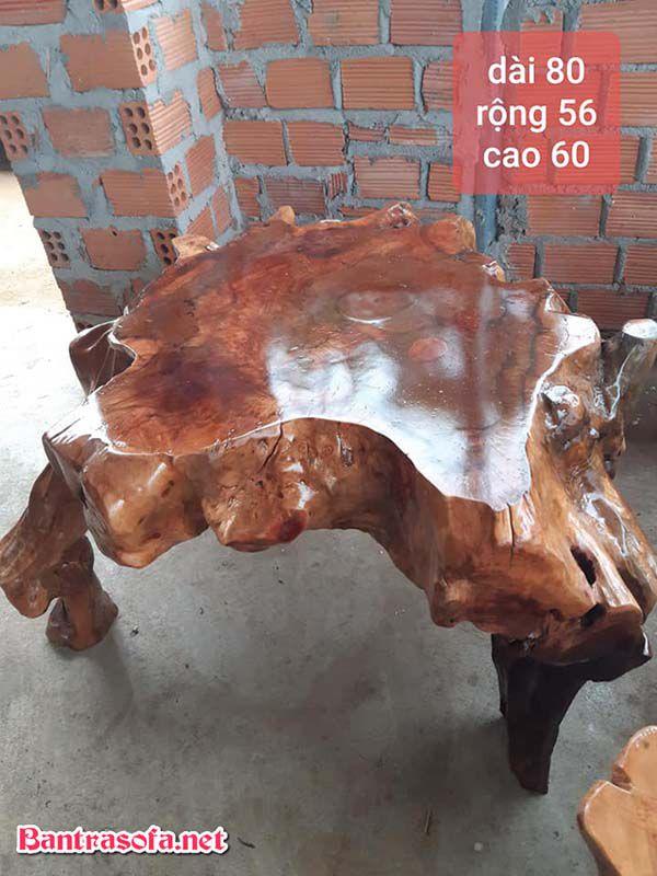 mặt bàn gỗ xá xị lũa