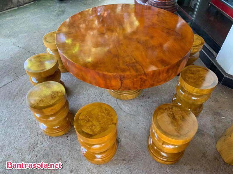 mặt bàn trà gỗ xá xị đẹp