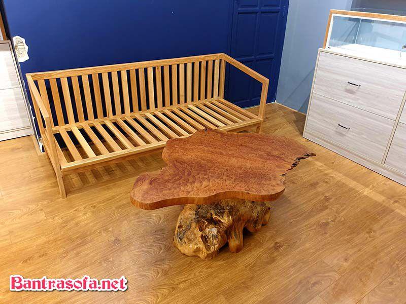 mặt bàn gỗ xá xị đẹp mắt
