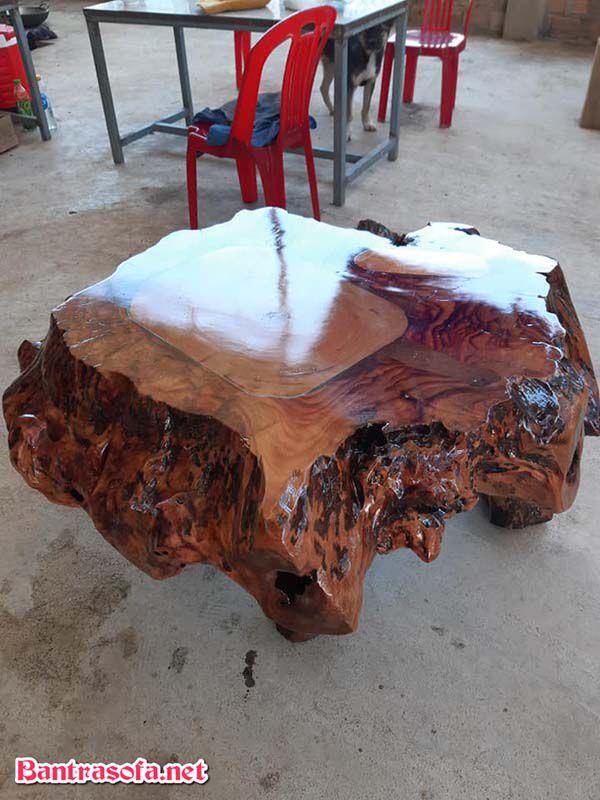 mặt bàn gỗ xá xị đẹp