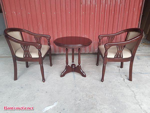 bộ bàn ghế kẹp trà phòng khách sạn