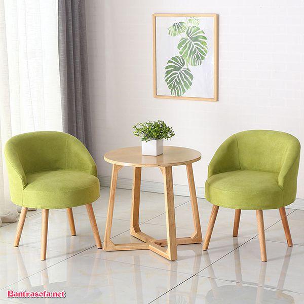 bộ bàn ghế kẹp trà màu xanh lá cây