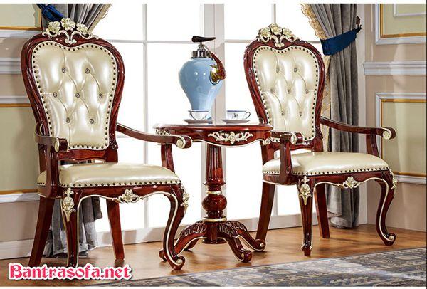 bộ bàn ghế kẹp trà tân cổ điển sang trọng