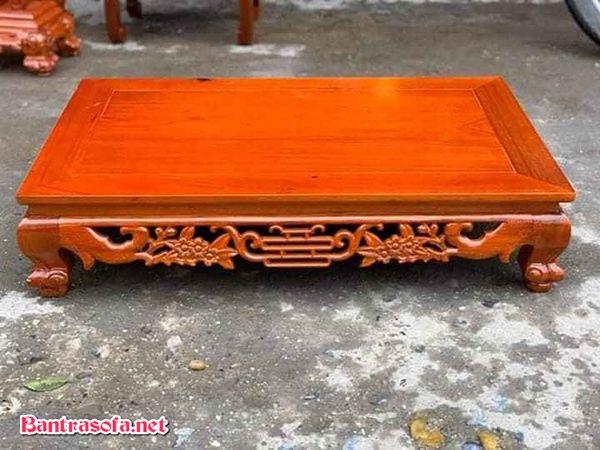 bàn trà gỗ gụ chân osin