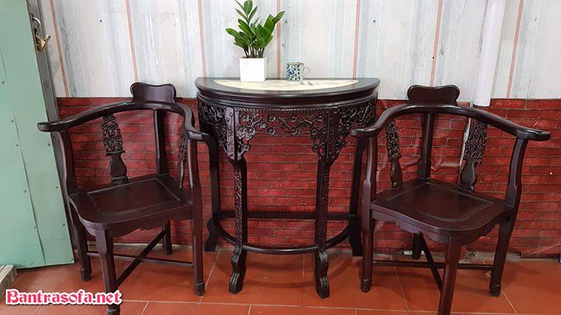 bàn trà gỗ gụ đẹp mắt