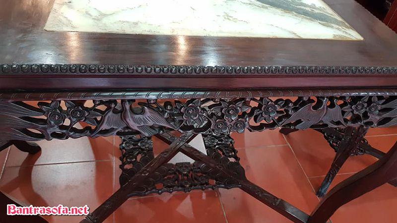 mặt bàn trà gỗ gụ đẹp