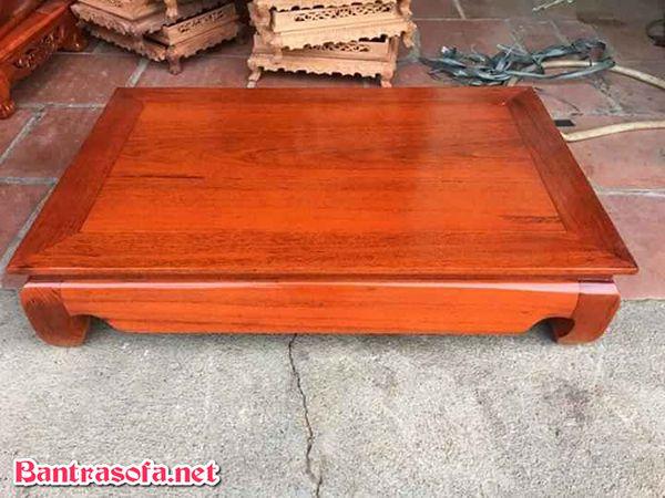 bàn trà bệt gỗ gụ đẹp