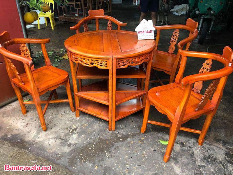 bộ bàn trà gỗ gụ đẹp