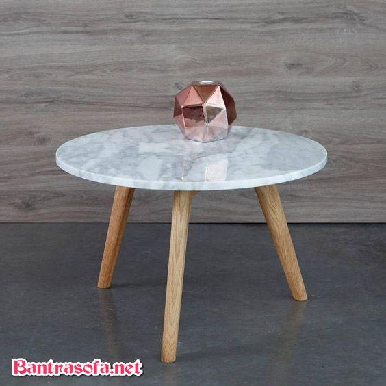 bàn trà tròn mặt đá đẹp nhỏ