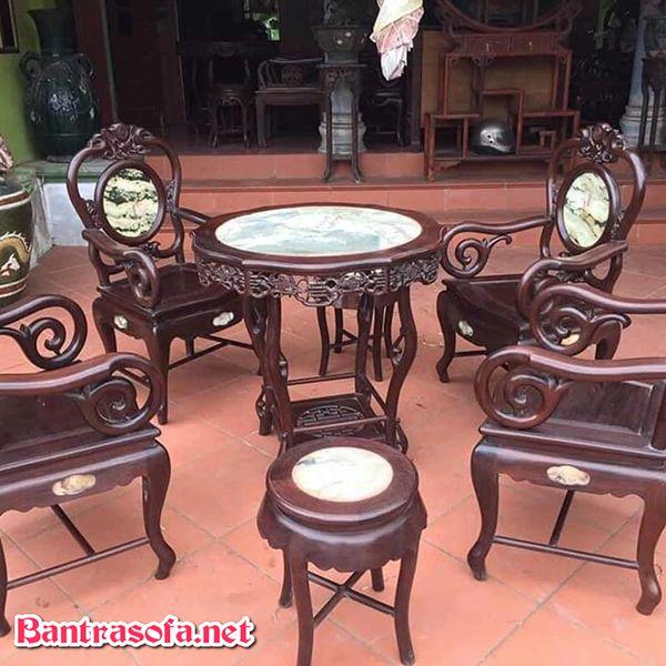 bàn trà gỗ gụ đẹp ấn tượng
